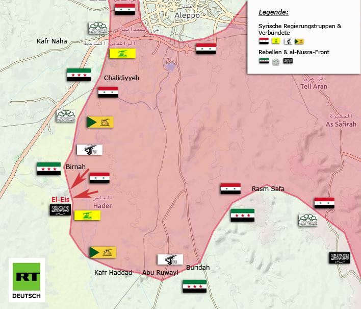 Syrien:  Heftige Gefechte um Aleppo zwischen al-Nusra und Regierungstruppen