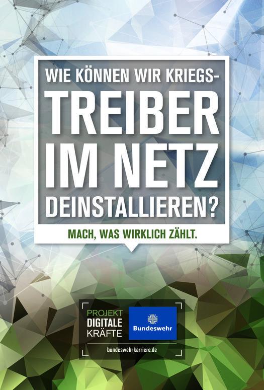 """Werbeplakat der """"Projekt Digitale  Kräfte""""-Kampagne der Bundeswehr"""