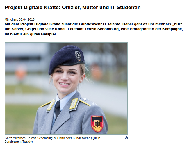 """Maschinenkrieg? Toll!! In der PR-Kampagne heißt das natürlich """"Soziale Interaktion zwischen Menschen und Robotern"""". Quelle: Bundeswehr.de"""