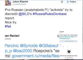 Julian Roepcke zeigt sich auf Twitter wenig begeistert von Kritik an seiner Arbeitsweise
