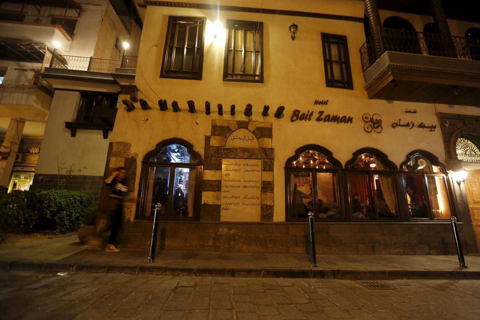 """Das """"Beit Zaman"""" Hotel, in der sich die Bar """"80's"""" befindet. Damaskus, 11. März 2016"""