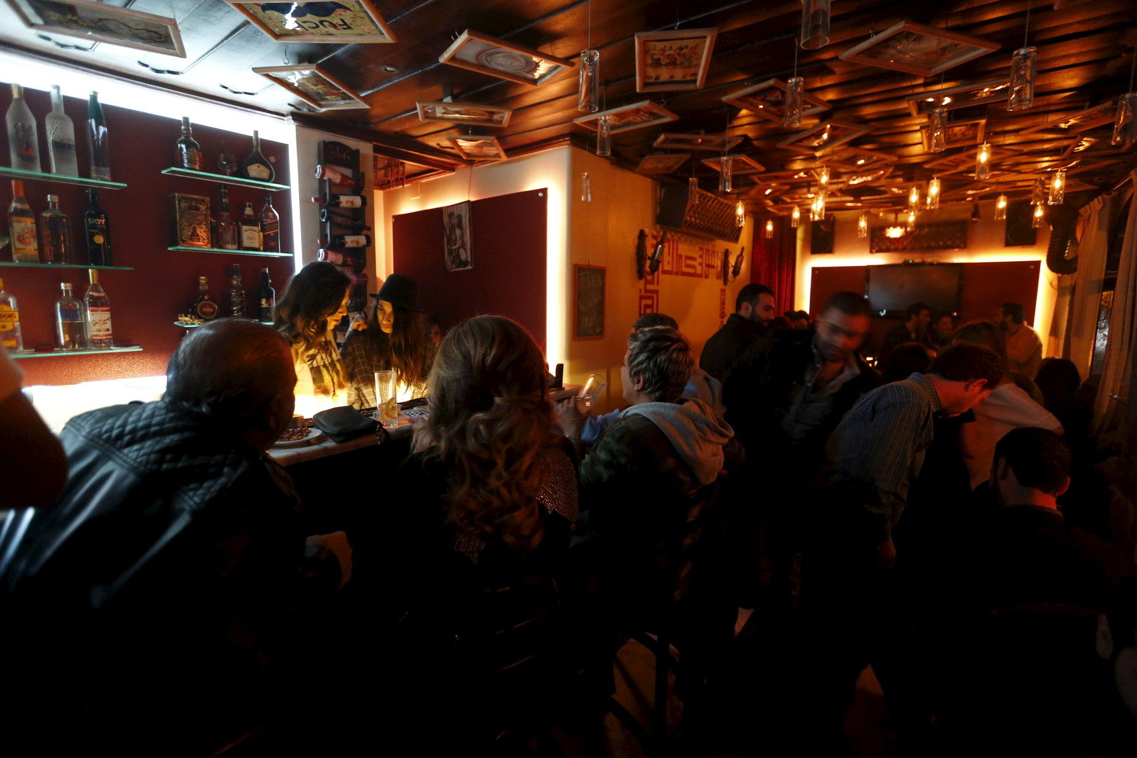 """Die Bar """"80's"""" in Damaskus, 11. März 2016"""