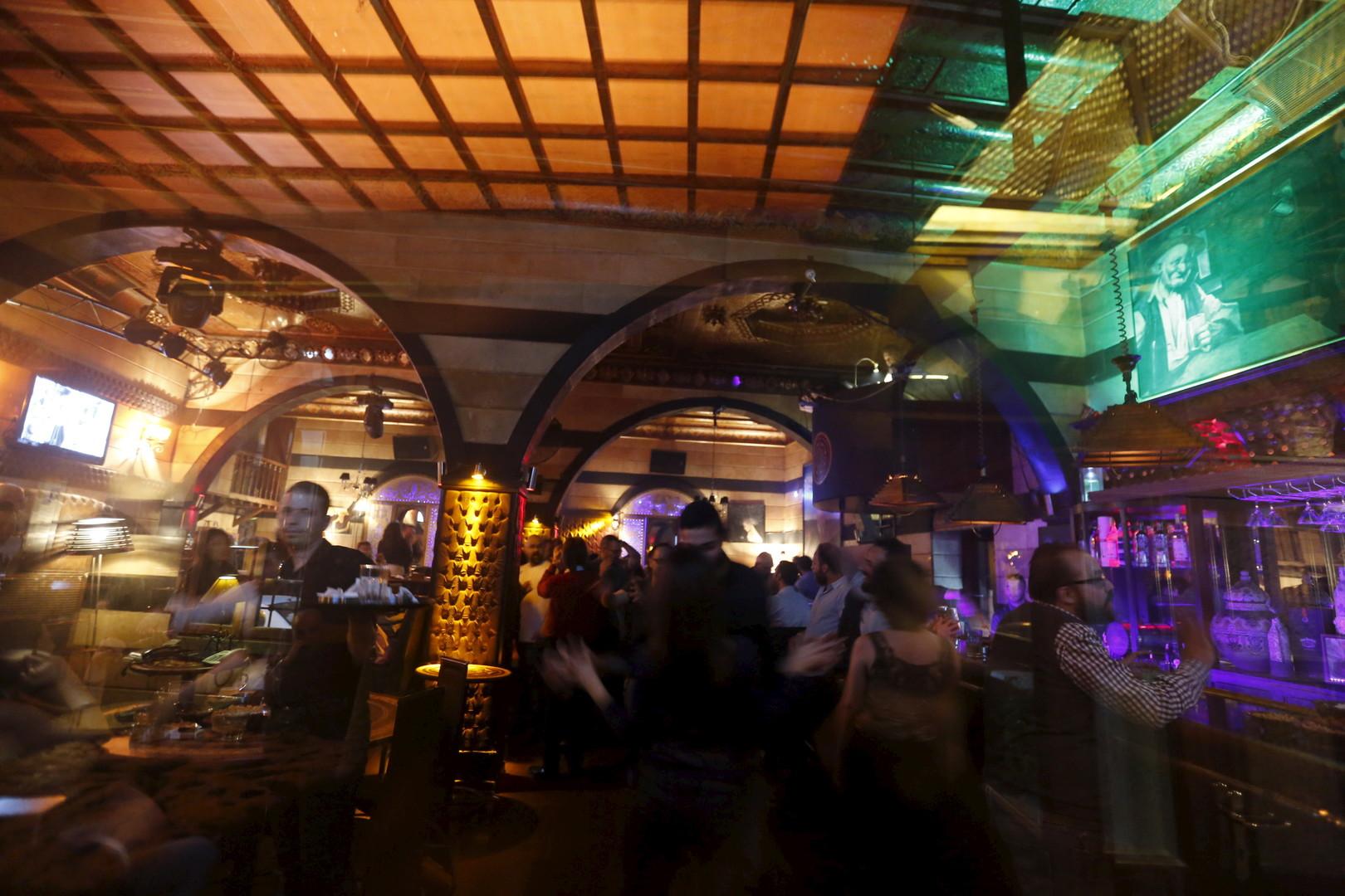 """Die Bar """"Zodiac"""" in Damaskus, 11. März 2016"""