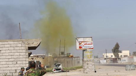 Symbolbild - Einsatz einer Chlorinbombe durch den IS in al-Alam, Irak.