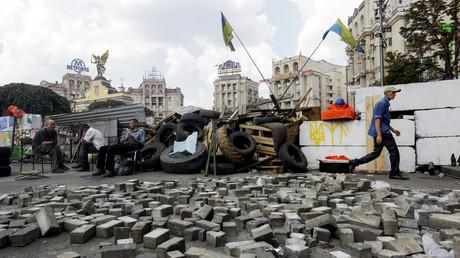 Blockade auf dem Maidan, Kiew.
