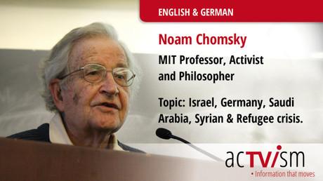 Noam Chomsky. Quelle: http://www.actvism.org