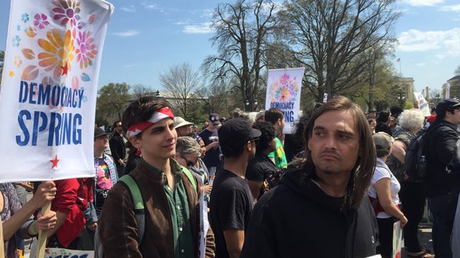 Democracy Spring-Protest in Washington. Bild: @LeeCamp