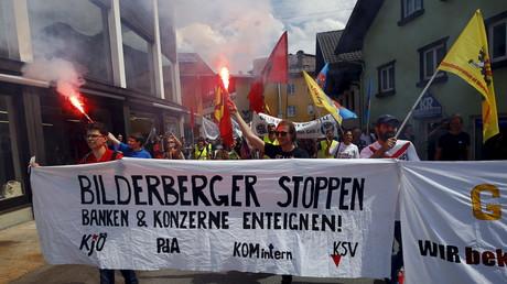 Auch 2015 gab es Proteste gegen die Bilderberg-Konferenz. Damals im österreichischen Telfs bei Buchen.