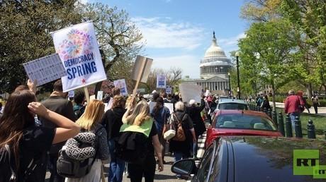 Protestmarsch auf das Capitol in Washington