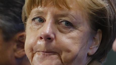 Man sieht es ihr an: Keine leichten Zeiten für Angela Merkel