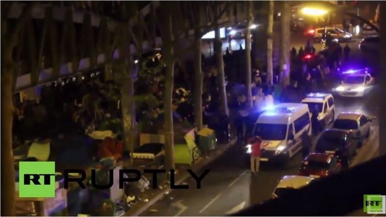 Paris: Massenschlägerei im Flüchtlingscamp unter Metrostation Stalingrad