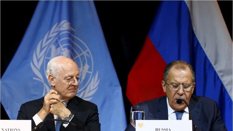 Live: Lawrow trifft De Mistura nach dessen Bitte um Hilfe bei Syriengesprächen