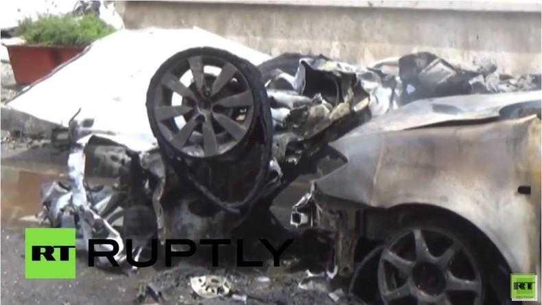 Videorohmaterial: Raketenangriff auf Krankenhaus in Aleppo, Dutzende Tote und Verletzte