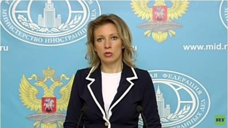 Live: Sprecherin des russischen Außenministeriums gibt wöchentliche Pressekonferenz