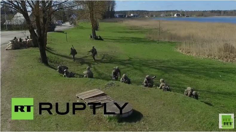 Estland: Drohne filmt NATO-Übung 'Spring Storm' in Vorua