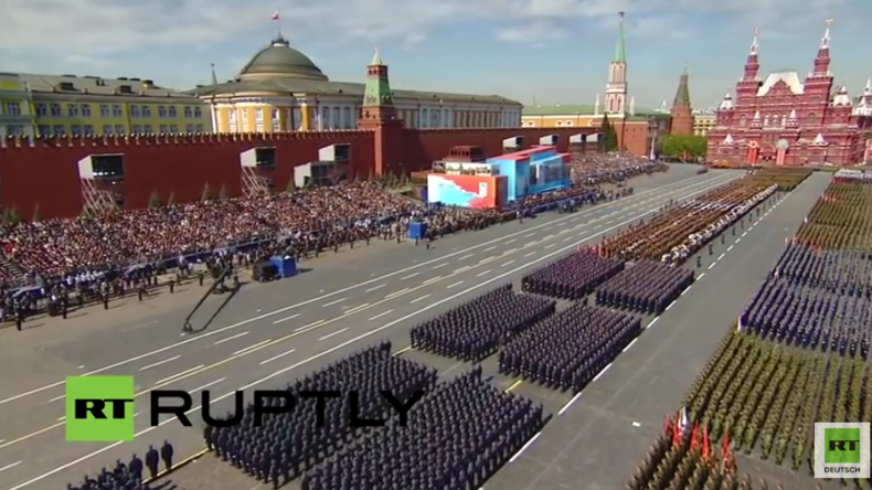 Live aus Moskau: Siegesparade am 71. Jahrestag zum Ende des Zweiten Weltkrieges