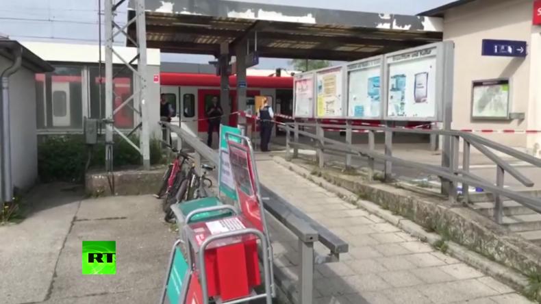 München: Nach dem tödlichen Messerattentat in Grafing – Tatort abgesperrt