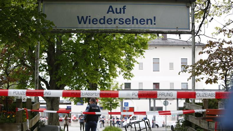 Der S-Bahnhof Grafing bei München nach der Messer-Attacke.