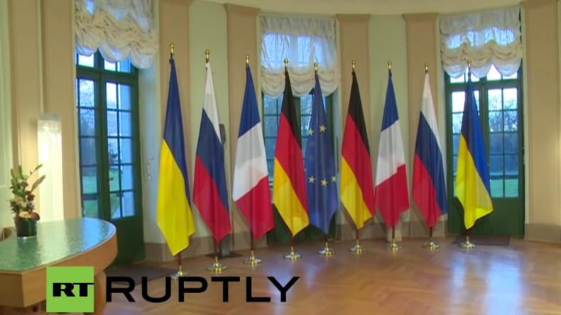 Frank-Walter Steinmeier gibt vor Normandie-Treffen in Berlin Erklärung ab