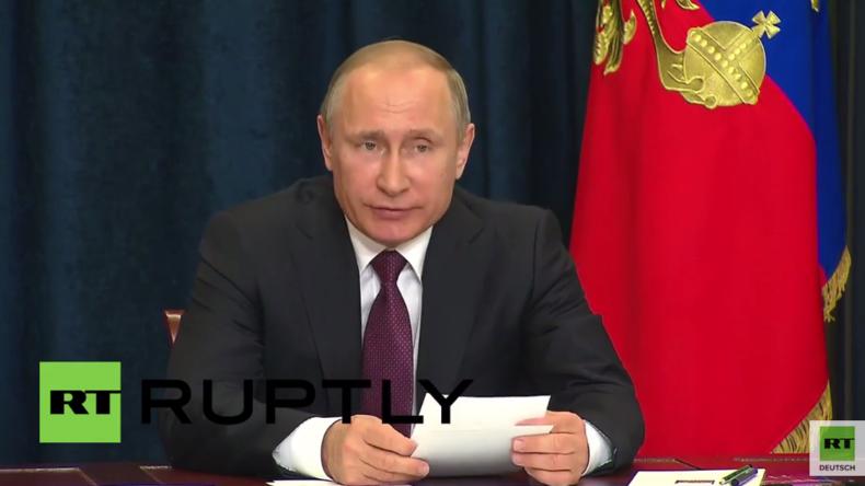 """Putin begrüßt Bauabschluss der Krim-Energiebrücke – Wir haben den """"Test"""" bestanden"""