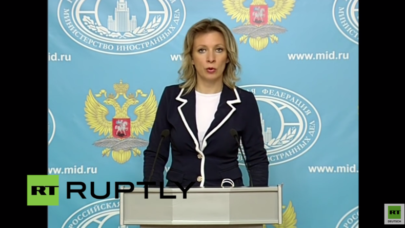 Live: Maria Sacharowa, Sprecherin des russischen Außenministeriums gibt wöchentliche Pressekonferenz