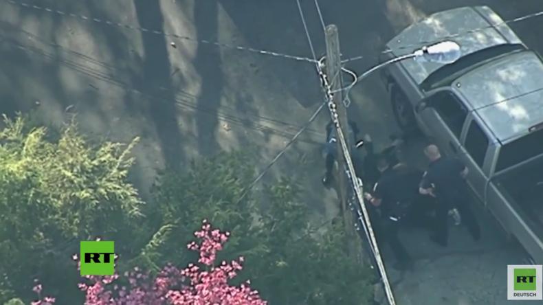 USA: Polizisten vermöbeln Fahrer nach Verfolgungsjagd live im TV
