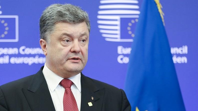 Poroschenko plädiert für Verschärfung der Russland-Sanktionen