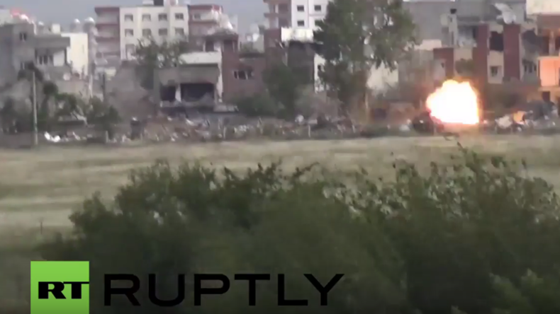 Kurdische Stadt Nusaybin in der Türkei erneut schwer unter Beschuss
