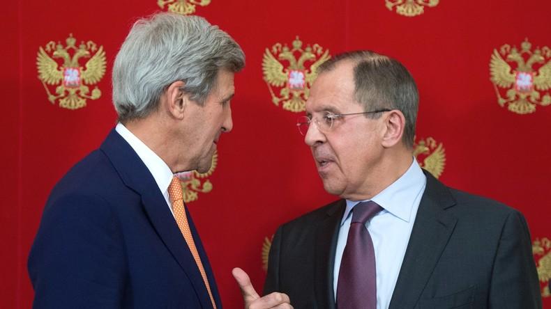 Lawrow und Kerry besprechen konkrete Schritte zur Umsetzung der Syrien-Vereinbarungen