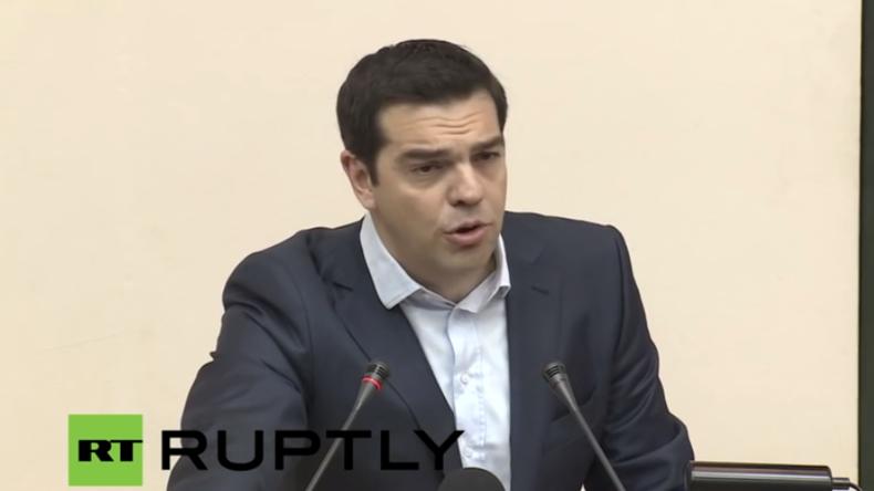 Live: Alexis Tsipras nimmt an Bau-Eröffnungszeromonie für Trans-adriatische Pipeline teil