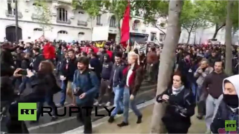 Live: Fortsetzung der Pariser Proteste der Gewerkschaften gegen Arbeitsmarkreformen