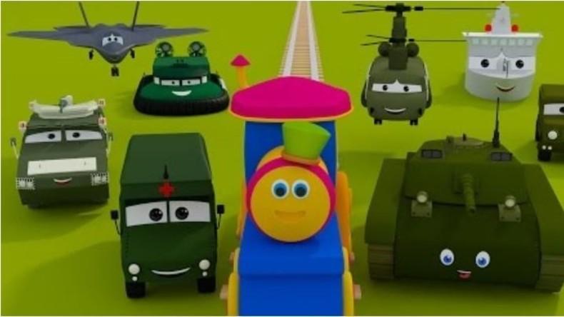 Youtube-Kanal für Kinder macht Kriegspropaganda: 'Bob, die Bahn – Besuch im Militärlager'