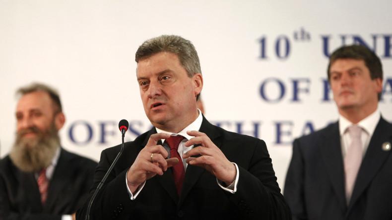Der President von Mazedonien Gjorge Ivanov