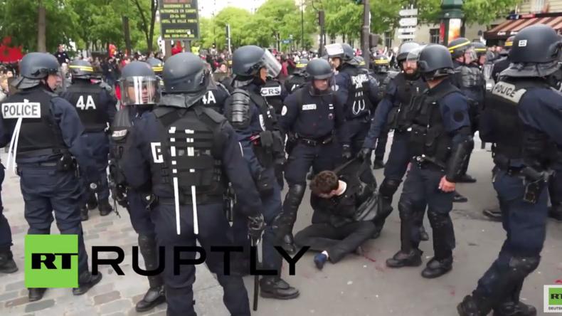 Paris kommt nicht zur Ruhe: Wieder Verhaftungen und Zusammenstöße bei Protesten gegen Arbeitsreform