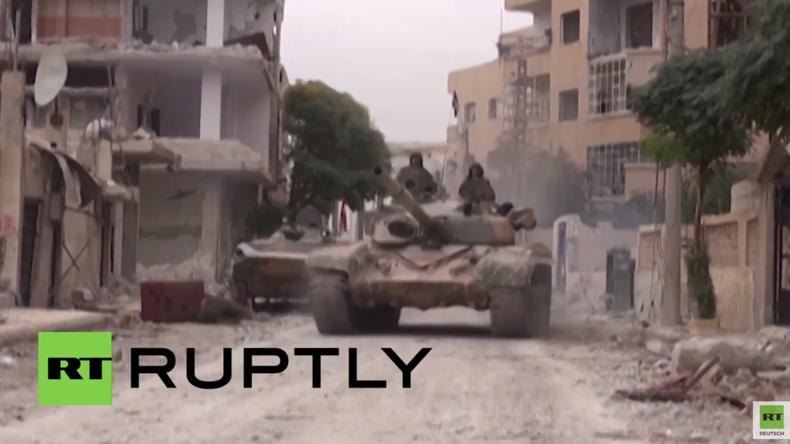 Syrien: Truppen der Syrisch Arabischen Armee befreien 13 Dörfer in Ghuta von der Al Nusra-Front