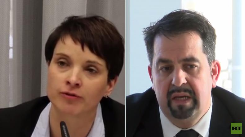 Live: AFD-Vorsitzende Frauke Petry und Chef des Zentralrats der Muslime Mazyek geben Pressekonferenz