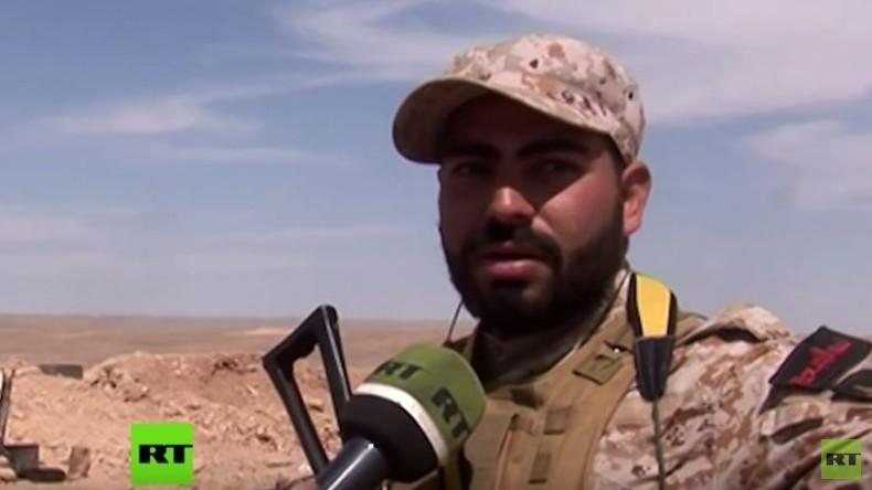 RT Exklusiv: Kampf zwischen Regierungstruppen und IS um das strategische Gasfeld al-Shaer in Syrien