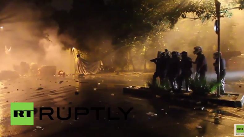 Brasilien: Protest gegen Übergangspräsidenten Temer - Polizei antwortet mit Gummigeschossen