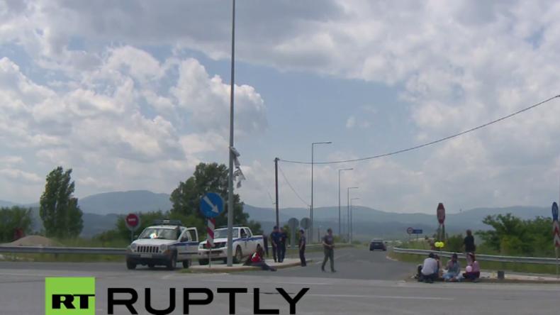 Live: Griechische Behörden räumen Flüchtlingscamp in Idomeni