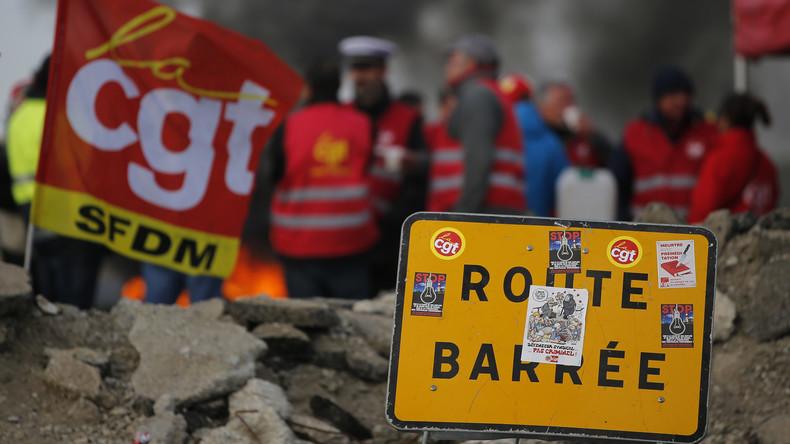 Kampf gegen Sozialabbau: Gewerkschaften blockieren Frankreichs Energieversorgung