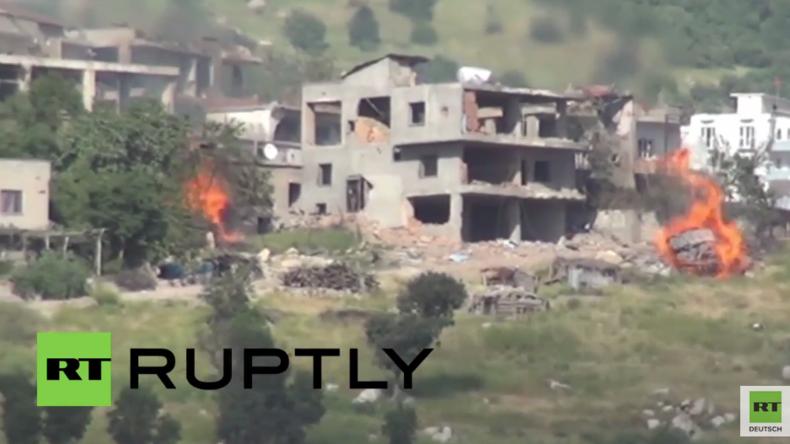 """""""Anti-Terror-Operation"""" in der Türkei: Sirnak brennt nach erneutem Angriff durch türkisches Militär"""