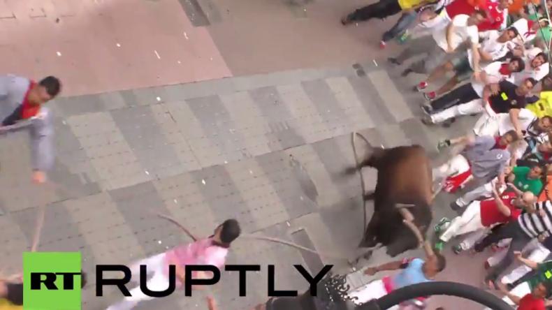 Spanien: Drei Menschen bei Stierlauf in Benavente verletzt