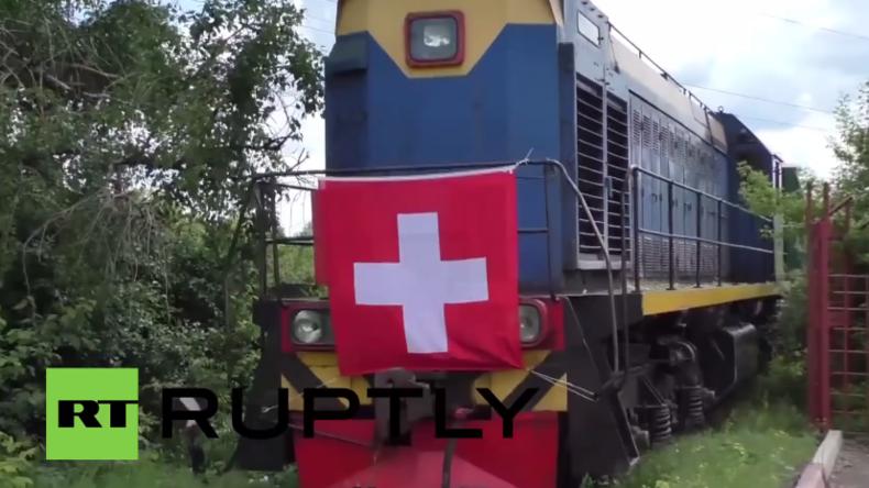 Ukraine: 500 Tonnen humanitäre Hilfe aus der Schweiz erreichen Donezk