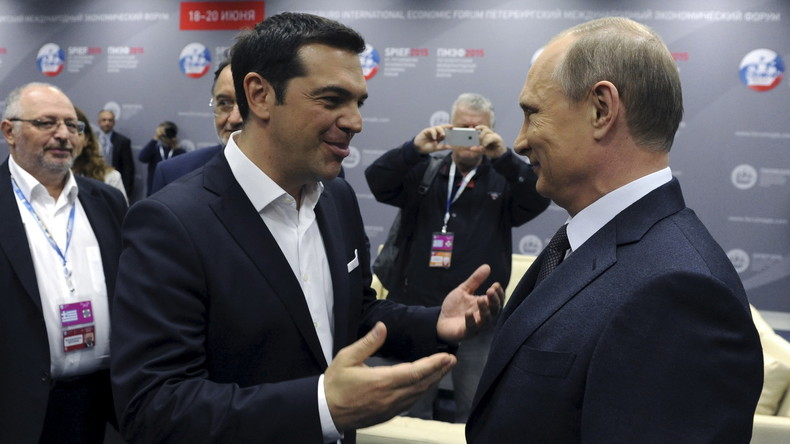 """""""Heureka!"""" - Russischer Präsident Wladimir Putin auf Staatsbesuch in Athen"""
