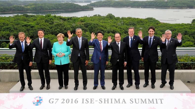 G7-Staatschefs drohen mit Verschärfung der Sanktionen gegen Russland und Umsetzung von TTIP 2016