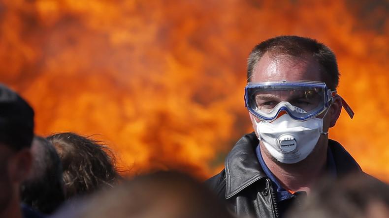 Schwere Zusammenstöße bei Protesten in Frankreich