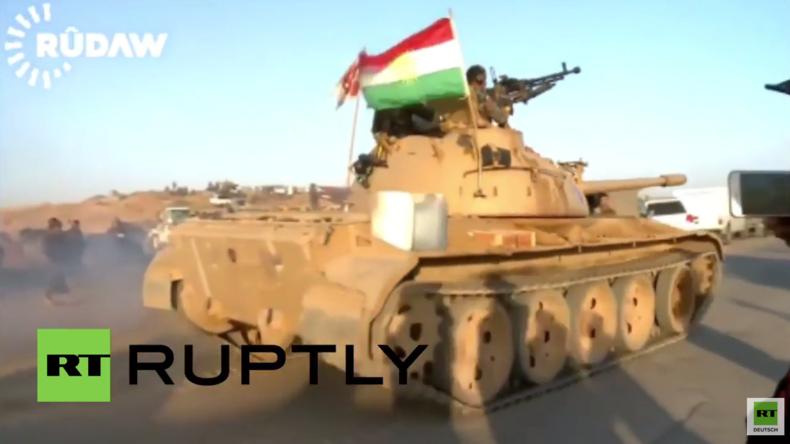 Irak: Kurdische Peschmergakämpfer beteiligen sich mit T-55 Panzern an Großoffensive gegen IS