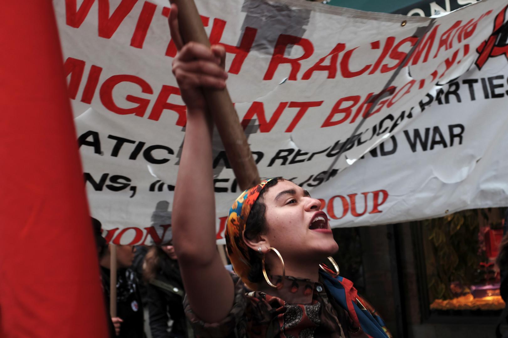 In Italien wurde gegen Rassismus und Krieg protestiert.