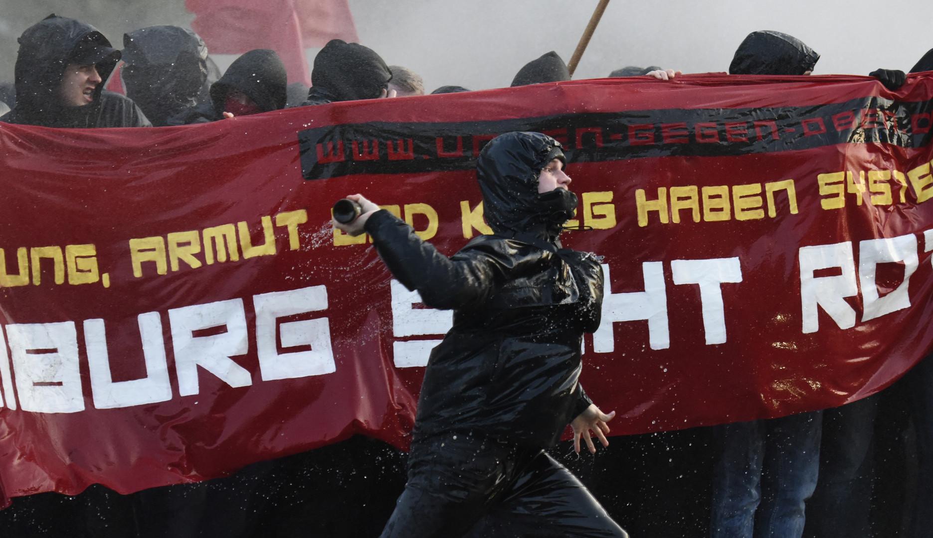 Auch in Hamburg kam es zu Auseinandersetzungen mit der Polizei.