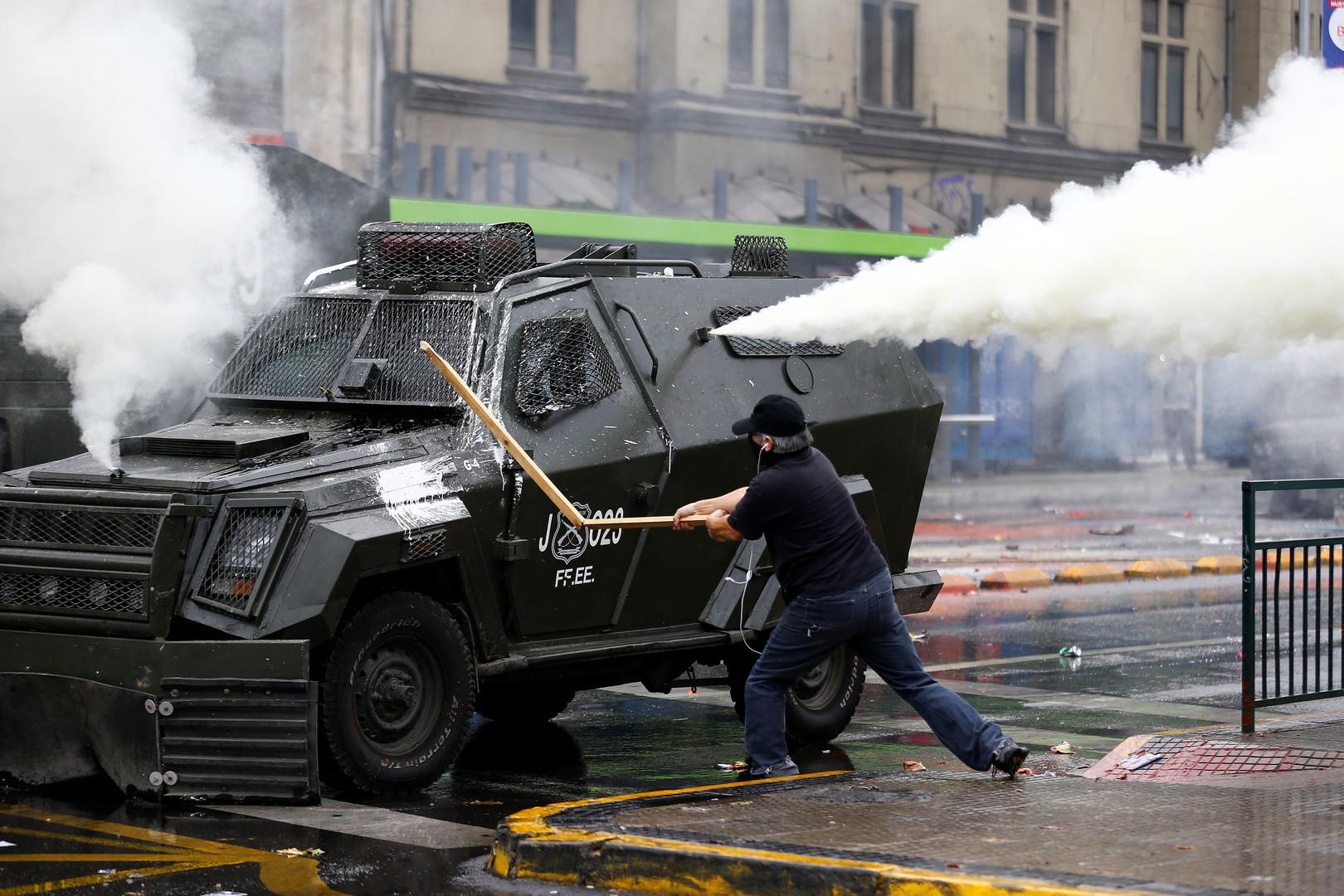 Auch in Chile kam es zu schweren Auseinandersetzungen.